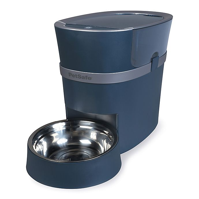 Alternate image 1 for PetSafe® Smart Feed 2nd Generation Automatic Cat & Dog Feeder in Dark Blue