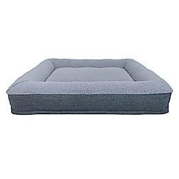 Bee & Willow™ Home Memory Foam Pet Bolster Bed in Grey