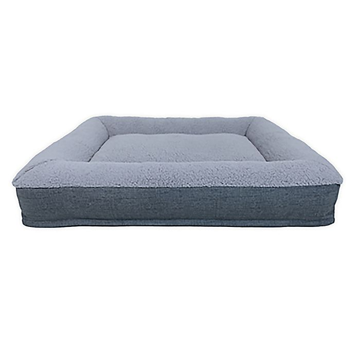Alternate image 1 for Bee & Willow™ Home Memory Foam Bolster Pet Bed in Grey