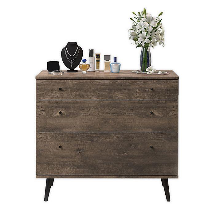 Alternate image 1 for Midtown Concept™ Mid-Century 3-Drawer Dresser