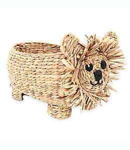 Canasta tejida Marmalade™ en forma de león