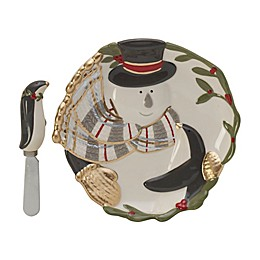 Fitz and Floyd® Mistletoe Merriment Snack Plate with Spreader