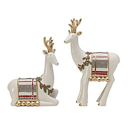 Fitz and Floyd® Mistletoe Merriment Deer Candle Holders (Set of 2)