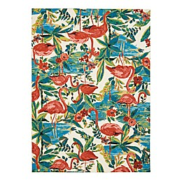 Waverly® Sun & Shade Flamingo 5'3 x 7'5 Indoor/Outdoor Area Rug