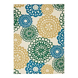 Waverly® Sun & Shade Swirl and Twirl 5'3 x 7'5 Indoor/Outdoor Area Rug
