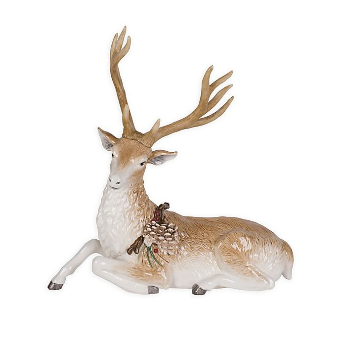 Alternate image 1 for Fitz and Floyd® Forest Frost 13.75-Inch Reclining Deer