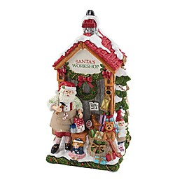 Fitz and Floyd® Forest Frost Musical Santa's Workshop