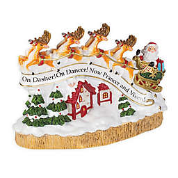 Fitz and Floyd® Forest Frost Musical Santa's Flight
