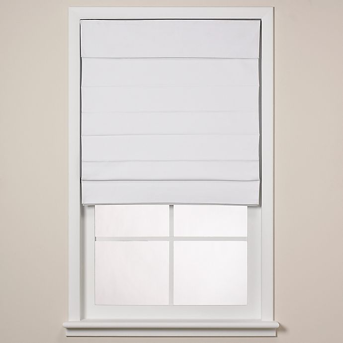 Alternate image 1 for Real Simple® Roman Shade in White