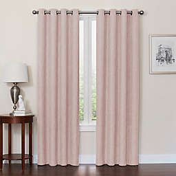 Quinn 63-Inch Grommet Top 100% Blackout Window Curtain Panel in Blush (Single)
