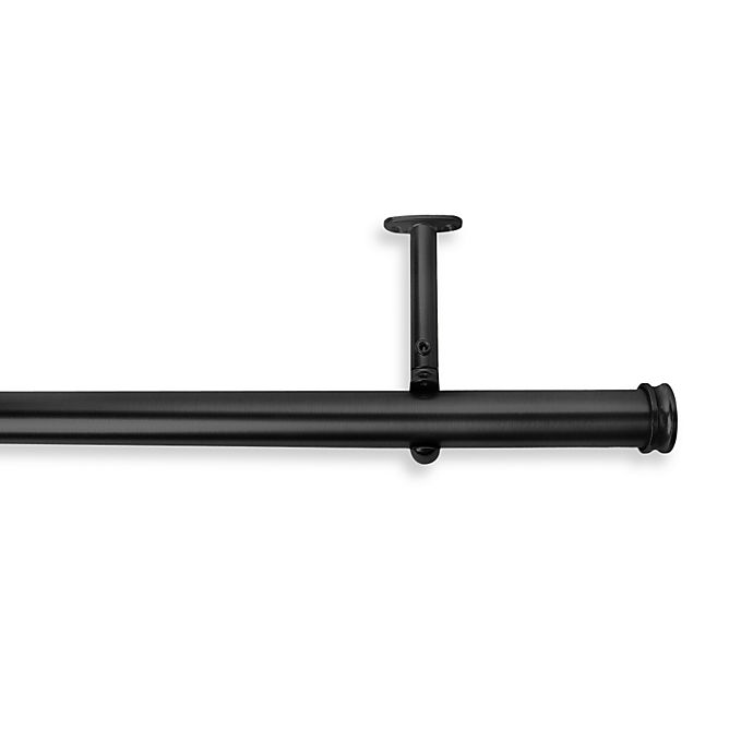 Shop Cambria® Premier Complete Decorative Drapery Rod in Satin Black from Bed Bath & Beyond on Openhaus