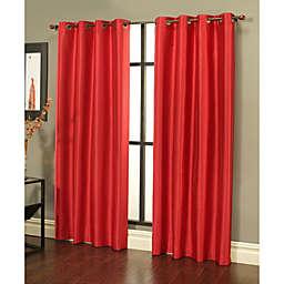 Sherry Kline Faux Silk Light Filtering Grommet Top 84-Inch Window Curtain Panels (Set of 2)