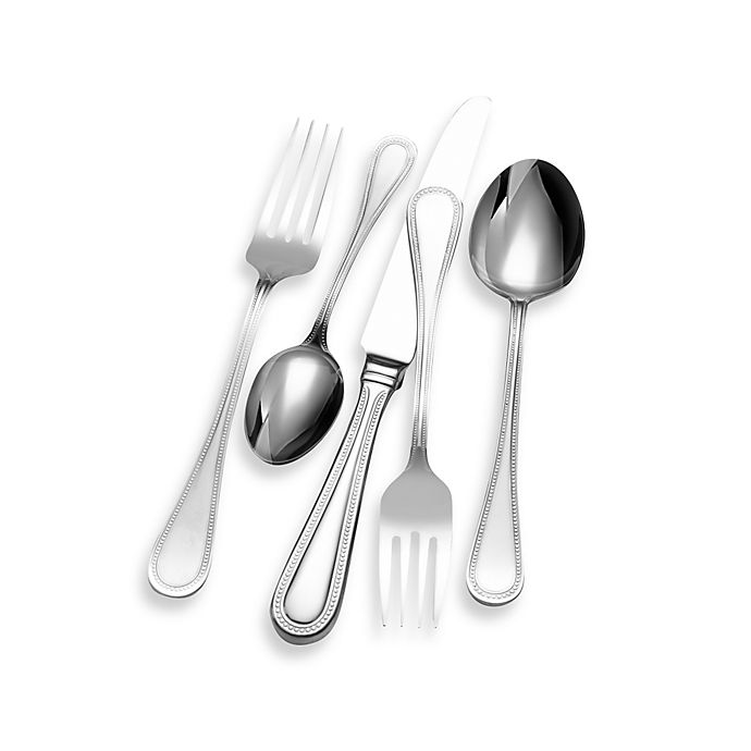 Alternate image 1 for Wallace Continental® Bead 65-Piece Flatware Set