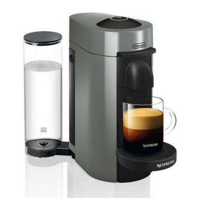 Nespresso - DeLonghi VertuoPlus Coffee Maker and Espresso Machine with 19 bars of pressure - Gray