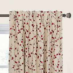 Blossom Pinch Pleat/Back Tab Window Curtain Panel