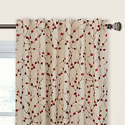 Blossom Rod Pocket/Back Tab Window Curtain Panel