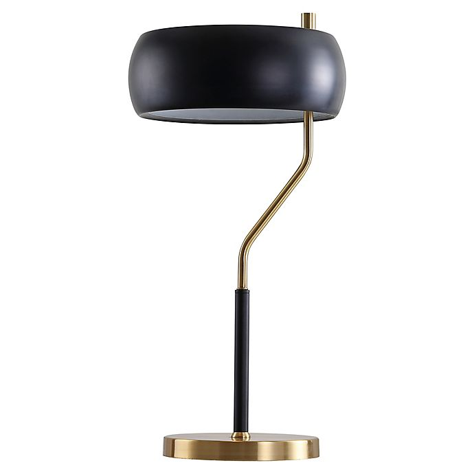 Alternate image 1 for JONATHAN Y Oskar Moody LED Desk Lamp in Black with Metal Shade