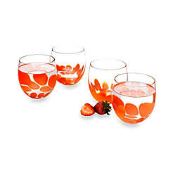 Pasabahce Fresh 12 oz. Tumblers in Coral (Set of 4)