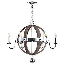 JONATHAN Y Georgia Adjustable LED Chandelier in Antique Grey