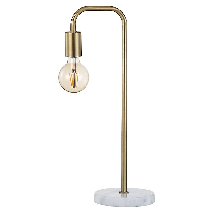 Alternate image 1 for JONATHAN Y Axel Minimalist Glam Pipe LED Table Lamp in Brass Gold