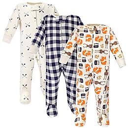 Hudson Baby® Preemie 3-Pack Forest Sleep N' Play Footies