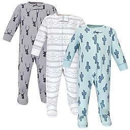 Yoga Sprout Preemie 3-Pack Cactus Sleep N' Play Footies