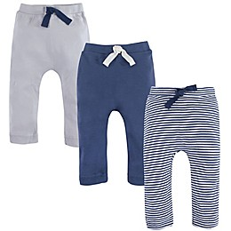 Touched by Nature 3-Pack Organic Cotton Pants in Blue/Cream