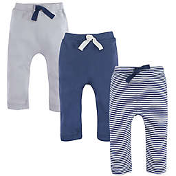 Touched by Nature Size 18-24M 3-Pack Organic Cotton Pants in Blue/Cream