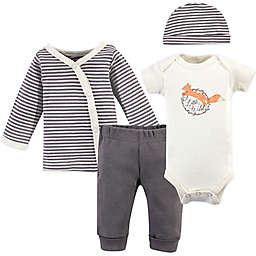Touched by Nature® Preemie 4-Piece Fox Organic Cotton Layette Set in Grey