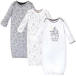 Touched by Nature® Size 0-6M 3-Pack Constellation Organic Cotton Gowns in White