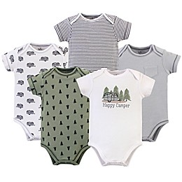 Touched by Nature 5-Pack Organic Cotton Happy Camper Bodysuits