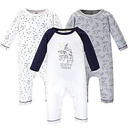 Touched by Nature 3-Pack Constellation Organic Cotton Coveralls in Navy