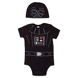 Lucas 2-Piece Darth Vader Bodysuit and Hat Set in Black