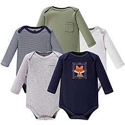 Hudson Baby® 5-Pack Mr. Fox Bodysuits in Navy