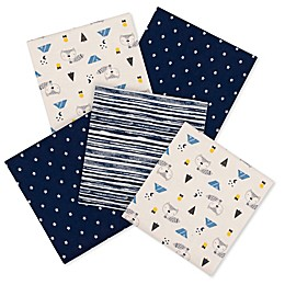 Gerber® Fox 5-Pack Flannel Blanket in Blue