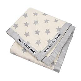 Gerber® Stars Plush Blanket in White/Grey