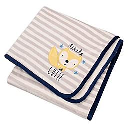Gerber® Striped Fox Plush Blanket in Grey