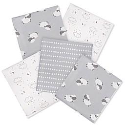 Gerber® Lamb 5-Pack Flannel Blanket in Grey