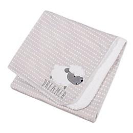 Gerber® Lamb Appliqued Plush Blanket in Grey