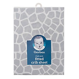 Gerber® Giraffe Cotton Fitted Crib Sheet in Grey