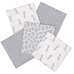 Gerber® Giraffe 5-Pack Flannel Blanket in Grey