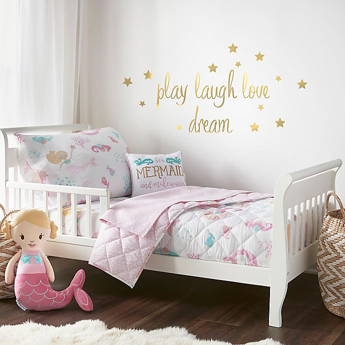 Alternate image 1 for Levtex Baby Mermaid Toddler Bedding Set in Pink