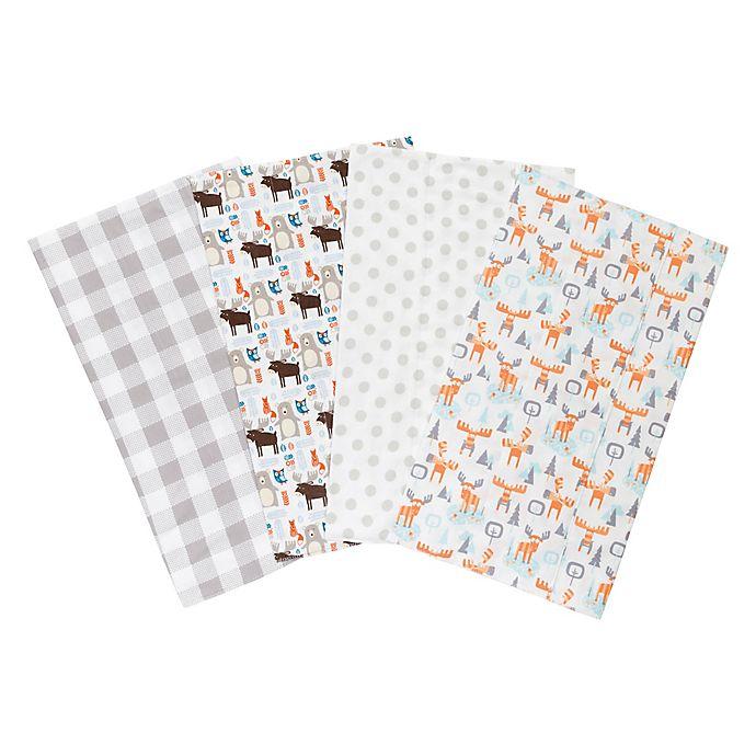 Alternate image 1 for Trend Lab® 4-Pack Scandi Cocoa Burp Cloth Set