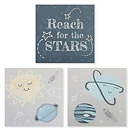 Trend Lab® 3-Pack Reach for the Stars Wrapped Canvas Wall Art Set