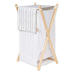 Trend Lab Sydney Laundry Hamper in Grey/White