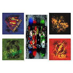 Modern Littles Justice League Canvas Prints Wall Art (Set of 5)