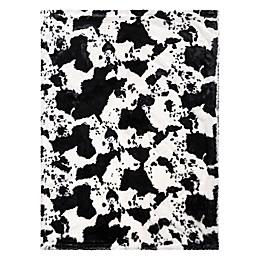 Trend Lab® Cow Print Receiving Blanket in Black/White