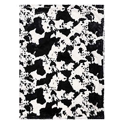 Trend Lab® Cow Print Receiving Blanket in Black/White