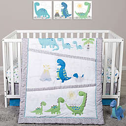 Sammy & Lou 4-Piece Dinosaur Pals Crib Bedding Set