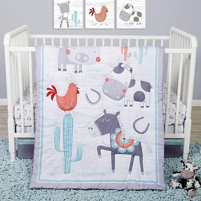 Alternate image 1 for Sammy & Lou 4-Piece Farmstead Friends Crib Bedding Set